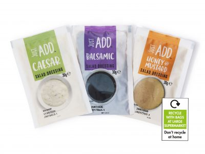 FFP Packaging Solutions work with JDM Food Group to produce 100% recyclable sachets for hot fill applications