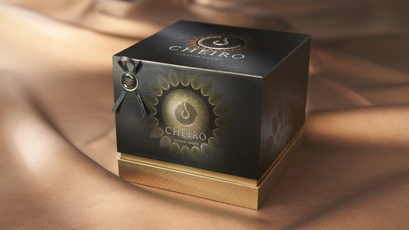 Desirable and sustainable candle packaging design using natural mineral powders