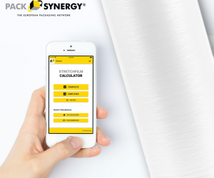 Sustainable stretch film savings with the PackSynergy app