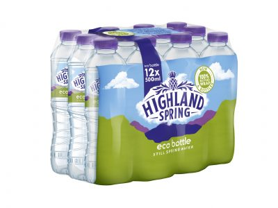 Highland Spring leads in sustainability with 100% recycled Duralite R Eco Pack