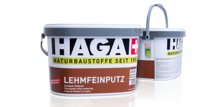 HAGA AG – Clay plaster henceforth in recycled packaging from Jokey