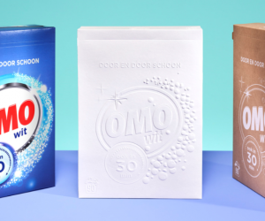 Reducing materials to design sustainable laundry packaging