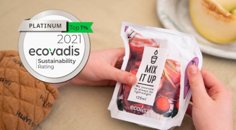 Ecolean placed in top 1% globally in sustainability, by EcoVadis