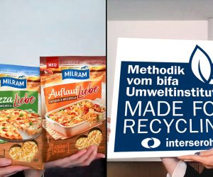 Interseroh Certifies New Grated Cheese Packaging from Milram with Good Recycling Capability