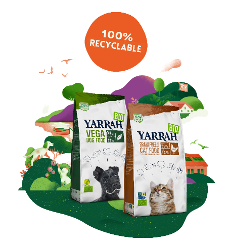 Yarrah Organic Petfood launches fully recyclable packaging
