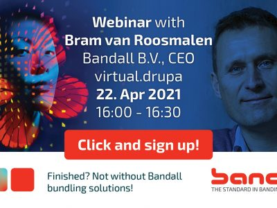 Bandall Webinar focuses on sustainable and damage-free bundling during virtual.drupa 2021