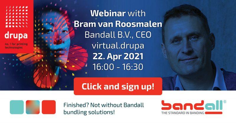 Bandall Webinar focuses on sustainable and damage-free bundling during virtual.drupa 2021