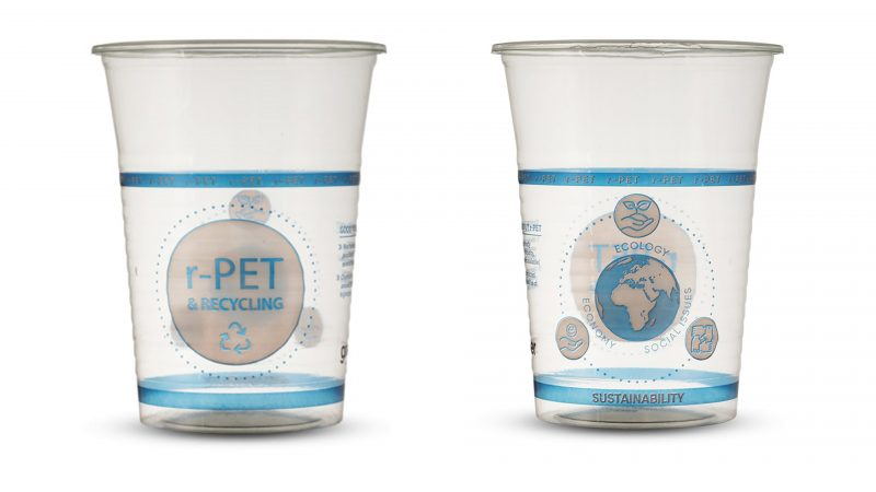 New, Sustainable r-PET Cups for Beer and Other Drinks