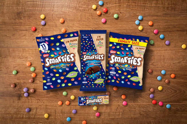 Smarties Switches Entirely to Recyclable Paper Packaging