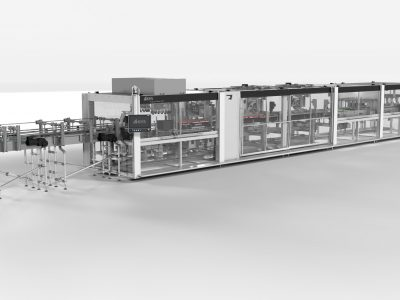 Environmentally-friendly alternative to plastic: new KHS machine processes can toppers made of cardboard