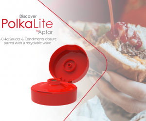 Aptar Food + Beverage Introduces PolkaLite™ Closure paired with SimpliCycle™ Valve Technology