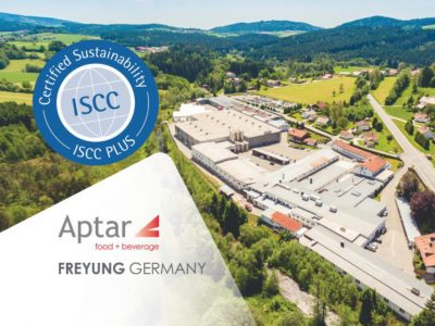 Aptar Food + Beverage's Freyung, Germany Plant Receives ISCC* PLUS Certification