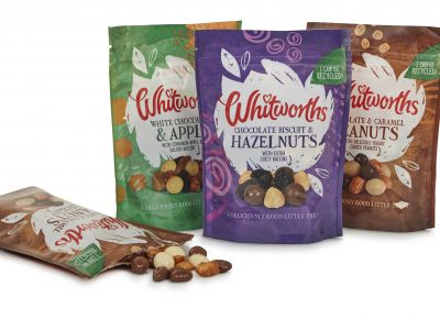 FFP Support Whitworths Ltd with Recyclable Pouches for Evening Snacks Range
