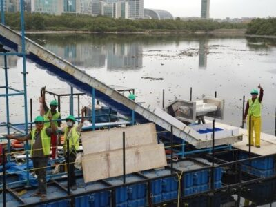 Huhtamaki partners with RiverRecycle and VTT to develop technology to tackle floating river waste.