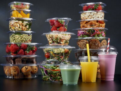 Celebration Packaging launches 100% recyclable rPET foodservice packaging range at lunch!