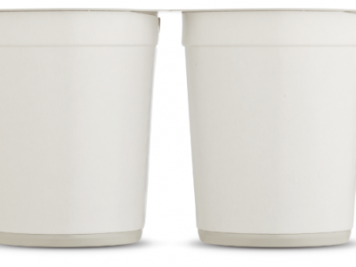 Sustainable rPET cups for school milk