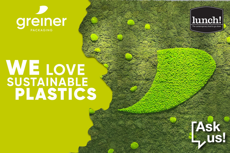 """Greiner Packaging says """"We love sustainable plastics"""" at lunch!"""