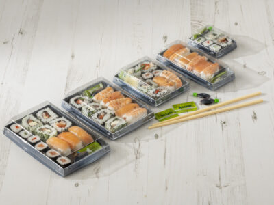 New Luxifood™ sushi pack from Sharpak brings unique advantages to the food-to-go market