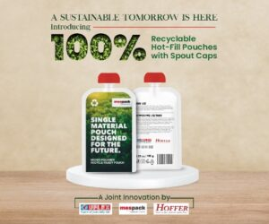 UFlex Teams up with Hoffer Plastics and Mespack to Launch 100% Recyclable Mono-polymer Hot-fill Pouches