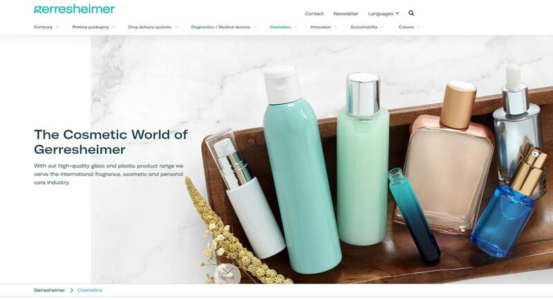 The new Gerresheimer Cosmetic World has launched