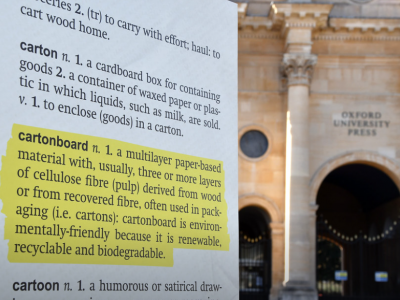 Have a word! Students join campaign to get 'cartonboard' into the Oxford English Dictionary
