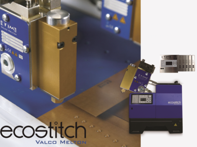 Valco Melton's new EcoStitch™ all-electric solution for end-of-line packaging allows total control of the complete hot melt application process and important glue savings