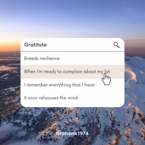 The Resilience Series: Gratitude