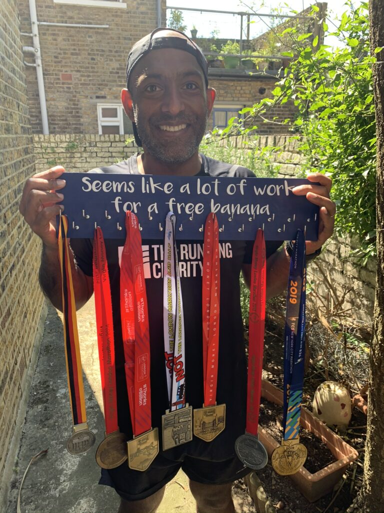 6 major medals ... 1 Not the London Marathon medal!