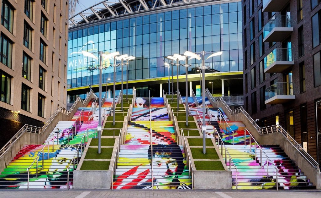 The Frank Styles installation on the iconic Spanish Steps - One In Four in partnership with Mind and the EFL