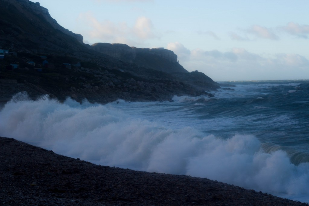 Chesil Cove storm