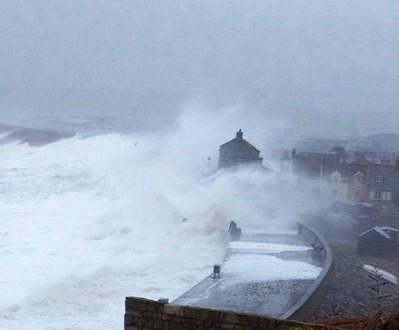 Chesil cove battering