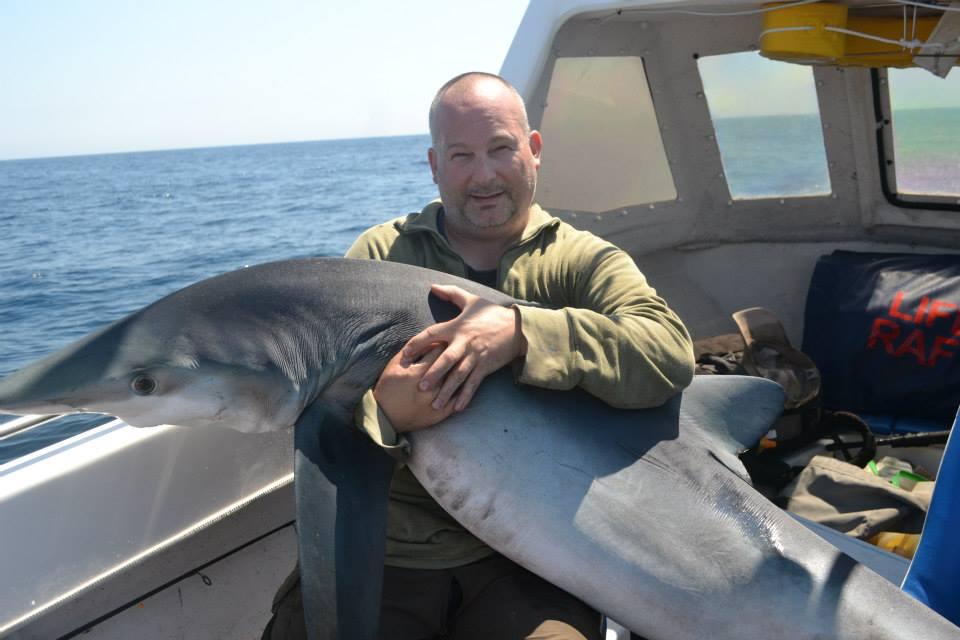 Gavin with Blue shark