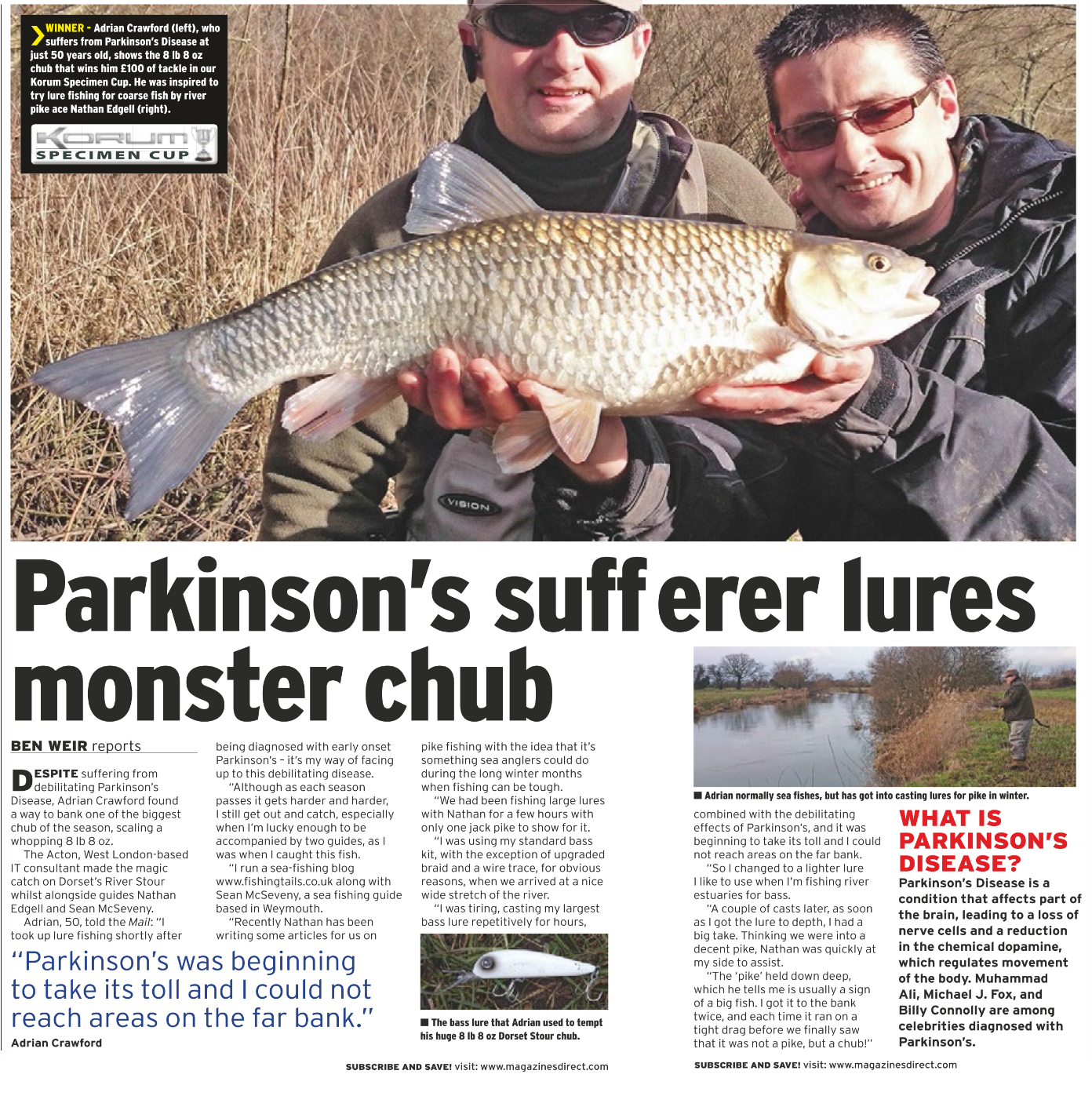 Our own Adrian Crawford wins Anglers Mail Fish of the Week