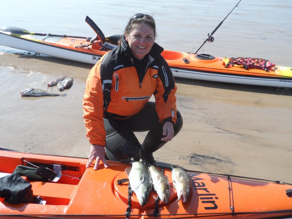 northumberland kayak fishing woman