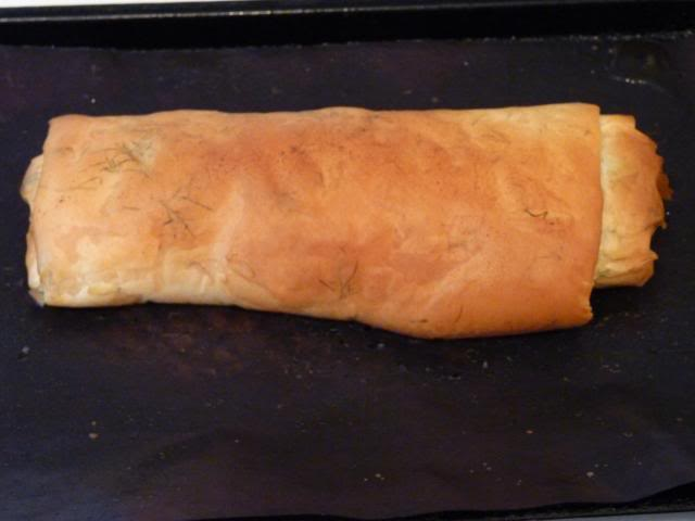 12 to 15 minutes should produce a nice flaky cooked pastry spring roll