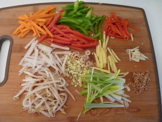 Prep all the veggies