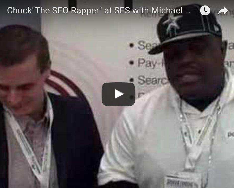 Chuck The SEO Rapper at SES with Michael Orlinski The SEO Rapper