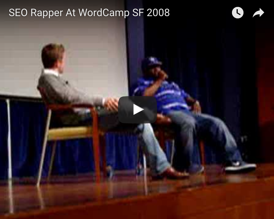 SEO Rapper At WordCamp SF 2008 The SEO Rapper