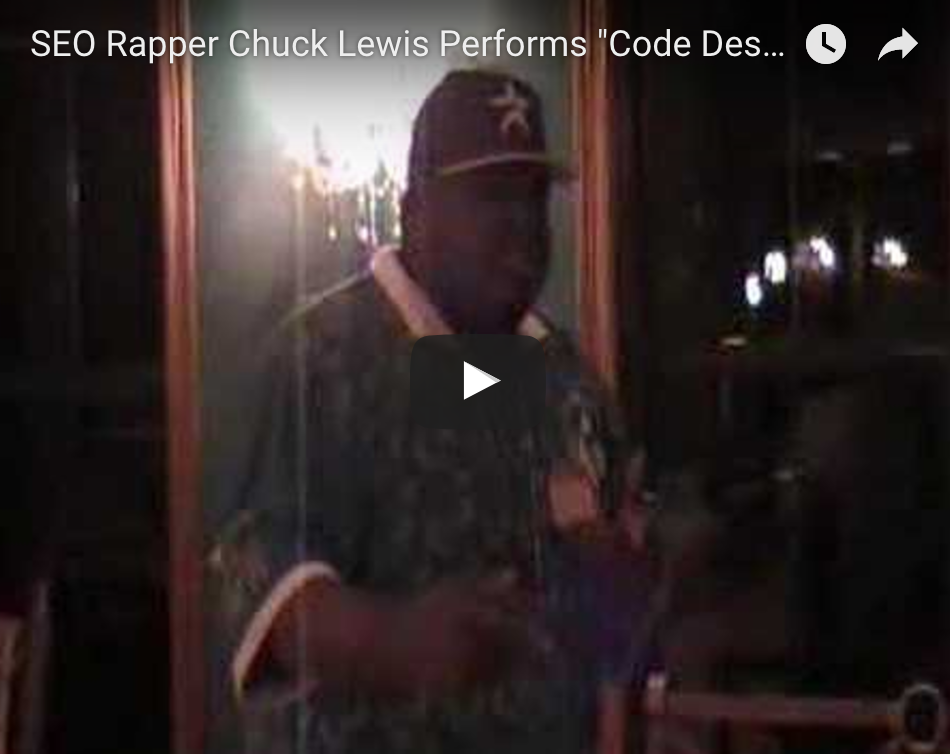 SEO Rapper Chuck Lewis Performs Code Design at Unleashed The SEO Rapper