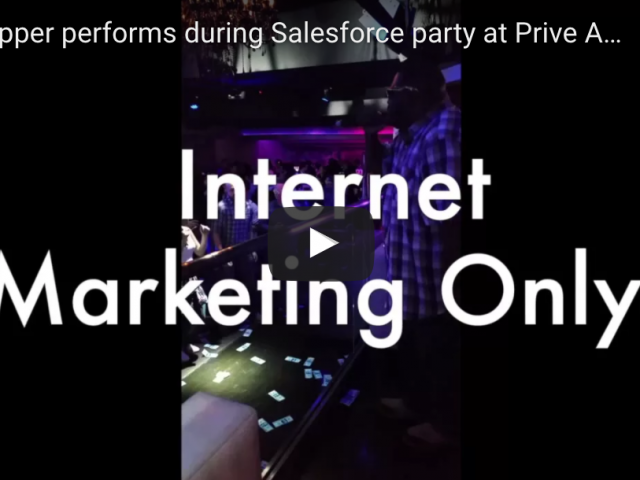 SEO Rapper performs during Salesforce party at Prive Atlanta