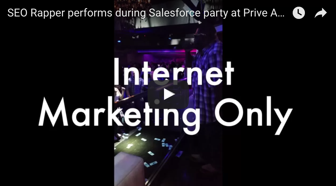 SEO Rapper performs during Salesforce party at Prive Atlanta The SEO Rapper