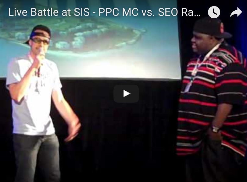 SEO Rapper vs PPC MC Live Battle at SIS The SEO Rapper
