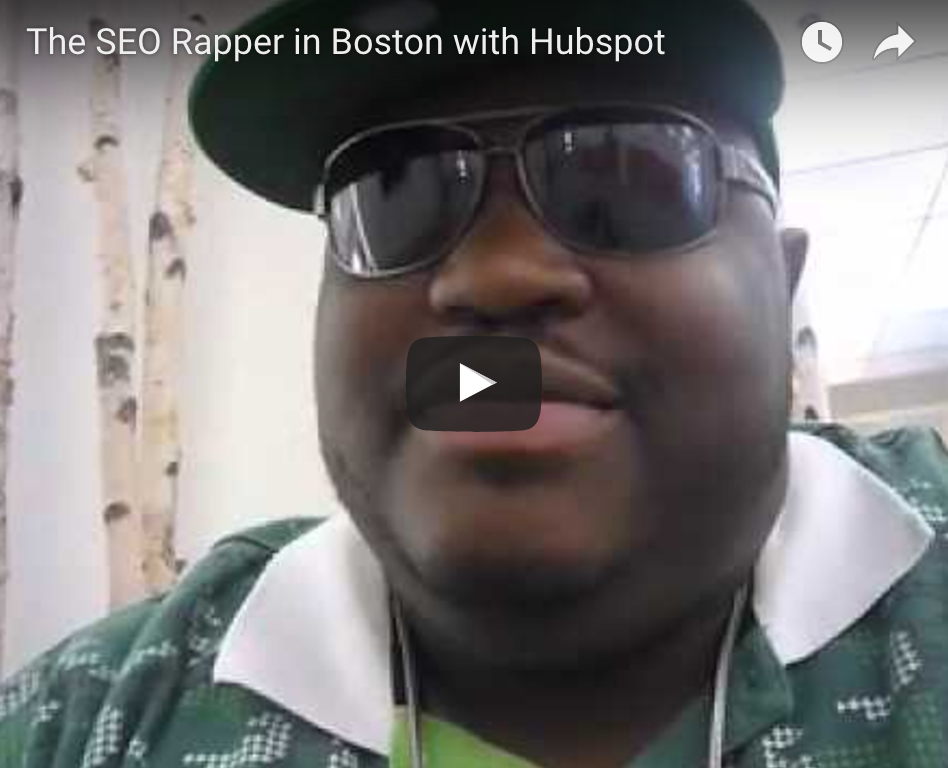 The SEO Rapper in Boston Visiting Hubspot The SEO Rapper