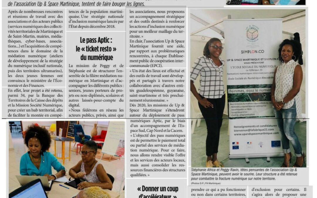 Nos activités numérique pour sénior dans le journal