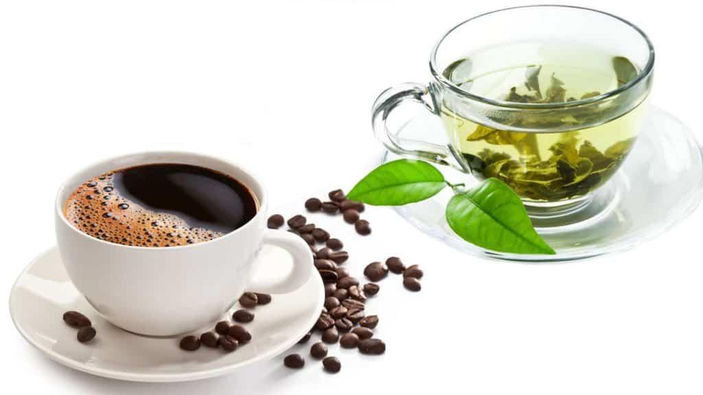 green tea and coffee
