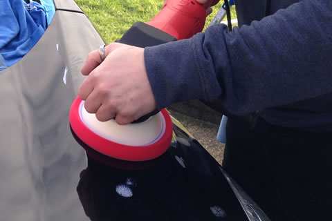 Polishing a Ford C-Max