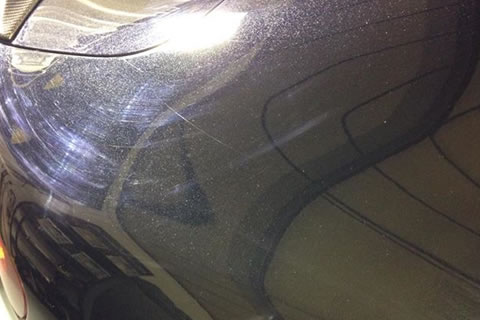 Swirl marks on a car