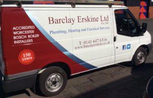 Barclay Erskine plumbers van