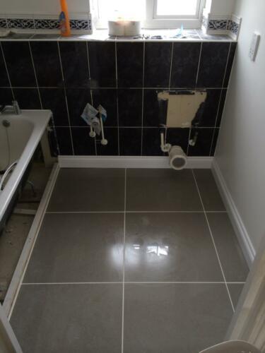Bathroom Floor - After