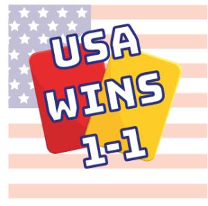 USA WINS 1-1